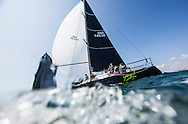 Image licensed to Lloyd Images <br /> Aberdeen Asset Management Cowes Week 2015. Day 1 of racing in the Solent. Picture shows the Corby 36 &quot;Yes&quot; skippered by Adam Gosling<br /> Credit: Lloyd Images