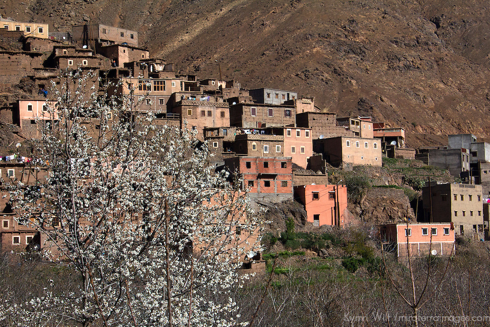 Africa, Morocco, Imlil. Berber village of Imlil in the Atlas Mountains.