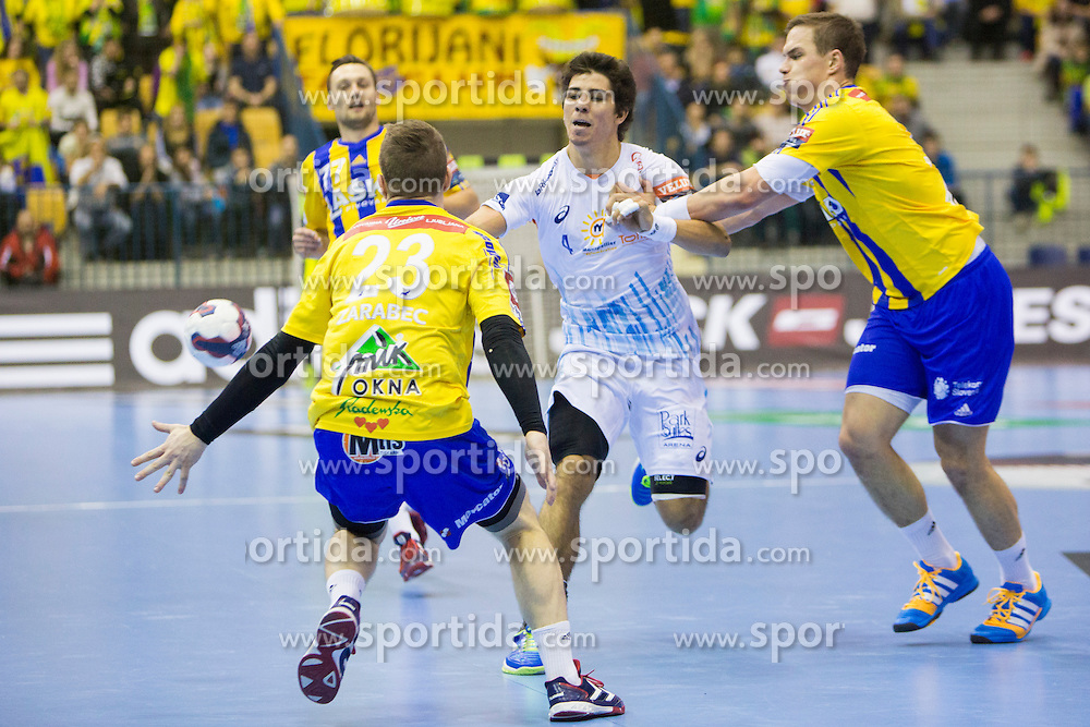 Diego Simonet #4 of MAHB Montpellier during handball match between RK Celje Pivovarna Lasko (SLO) and MAHB Montpellier (FRA) in Round 8 of EHF Champions League 2014/15, on December 6, 2014 in Arena Zlatorog, Celje, Slovenia. Photo by Urban Urbanc / Sportida