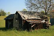 Abandoned tobacco barn in the Georgia countryside