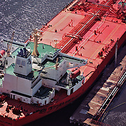 Aerial view of the Eagle Baltimore Tanker Ship