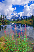 Clearing storm over Mount Shuksan from Picture Lake, North Cascades National Park, Washington