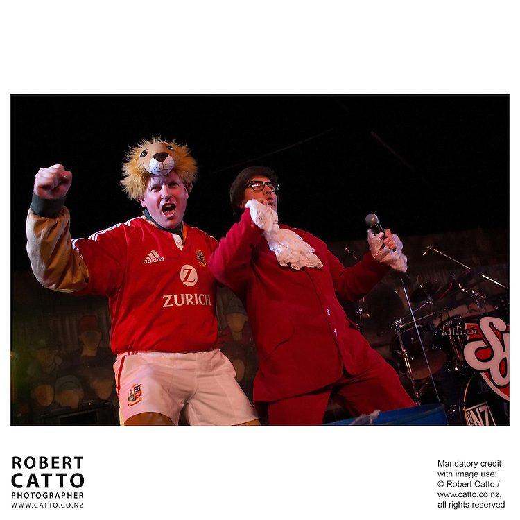 Lions Fans at the British &amp; Irish Lions v. All Blacks Third Test at Eden Park, Auckland, New Zealand.<br />