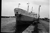 "1963 - The ship ""Irish Hawthorn"" paying her first visit to Dublin"
