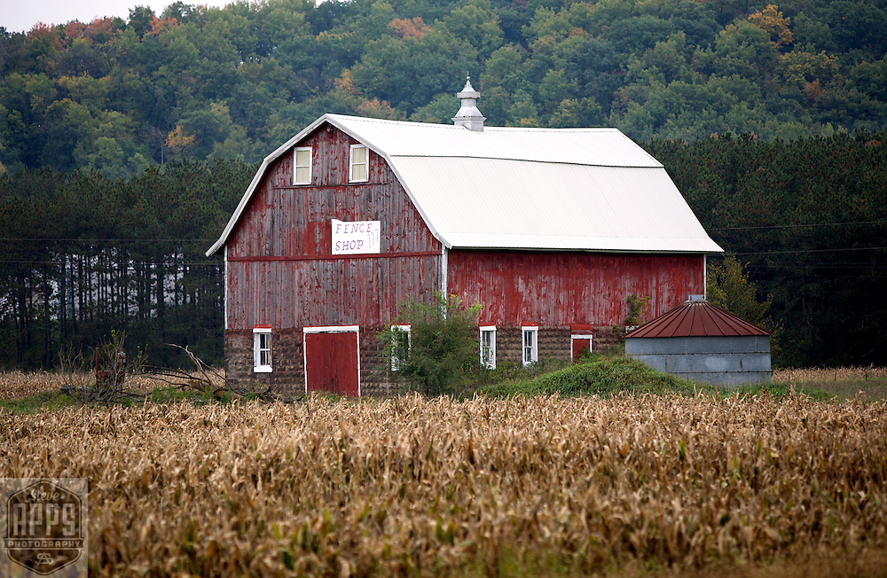 A collection of Barns that still can be seen while traveling the countryside in  the beautiful State of Wisconsin.<br /> Buffalo County- barn with Fence Shop sign Hwy 35 and Hwy 25 North Barns from around the State of Wisconsin.