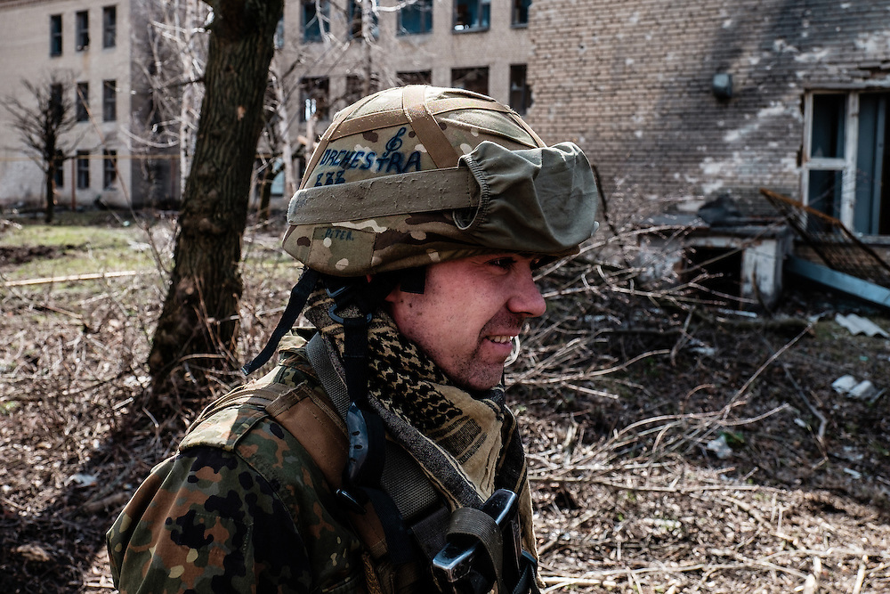 """Vladimir, 19 years old, soldier of unit """"Orchestra"""" of the Ukrainian army."""