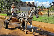 Horse and cart in Baragua, Ciego de Avila Province, Cuba.