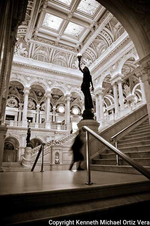 Main Hall & Arch, Library of Congress.