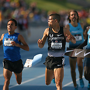 CENTROWITZ - 13USA, Des Moines, Ia. - Matt Centrowitz had words for Leonel Manzano after out kicking him in the 1500.   Photo by David Peterson