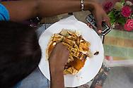 paratha, egg rotty, dal and curry. Pettah, Colombo, Sri Lanka