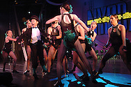 Dancers from the Bobbie's School of Performing Arts perform at the New York Dance Alliance's national competition finale July 10, 2005 in New York City. <br />