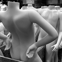 Mannequins are ready for shipment at Fusion Specialties in Broomfield, Colorado April 28, 2009.  Fusion makes mannequins to order for major designers like Victoria's Secret, Abercrombie & Fitch, Any Taylor and Old Navy.  REUTERS/Rick Wilking (UNITED STATES BUSINESS SOCIETY)