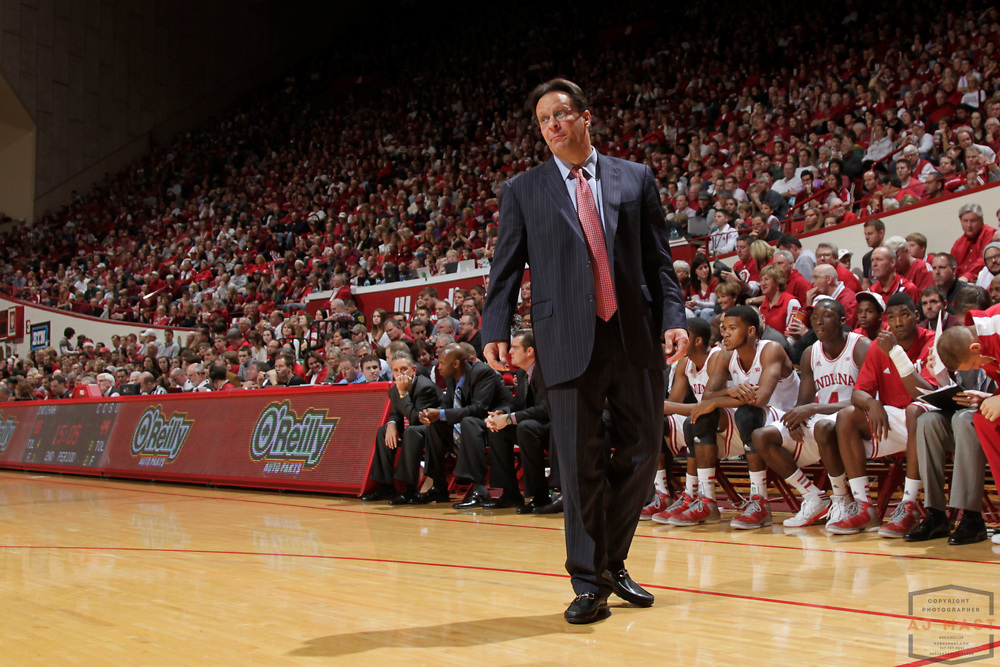 08 December 2012: Indiana head coach Tom Crean as the Indiana Hoosiers played the Central Connecticut State Blue Devils in Bloomington, Ind.