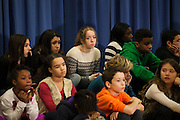 NYC Public School students watch as Mayor-Elect Bill de Blasio announces his appointment of Carmen Fari&ntilde;a as Schools Chancellor at William Alexander Middle School in Park Slope, Brooklyn, NY on Monday, Dec. 30, 2013.<br /> <br /> CREDIT: Andrew Hinderaker for The Wall Street Journal<br /> SLUG: NYSTANDALONE