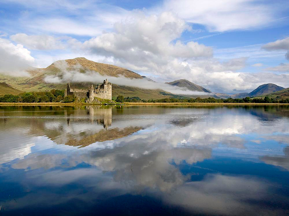 Morning mist over Kilchurn Castle, Loch Awe, Argyll