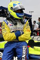 Vitor Meira at the Nashville Superspeedway, Firestone Indy 200, July 16, 2005