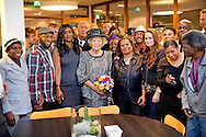3-10-2014 AMSTERDAM -   Princess Beatrix opens Friday October 3 Major Bosshardt Burgh in Amsterdam. Major Bosshardt Burgh is a new reception center of the Salvation Army for needy homeless. Before the Princess attended a meeting in the Dome Church on the occasion of the opening. COPYRIGHT ROBIN UTRECHT