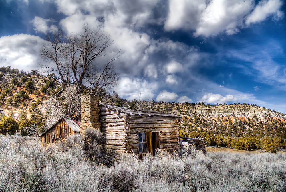 """An abandoned log home on an abandoned ranch in southern Utah. """"Once Upon A Home"""""""