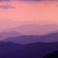 "Detail from the panoramic image ""The Great Smokey Mountains At Sunset From Clagman's Dome"""
