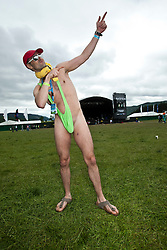 Andy, fan at Rockness main area..Rockness, Saturday 12th June 2010..Pic ©2010 Michael Schofield. All Rights Reserved.