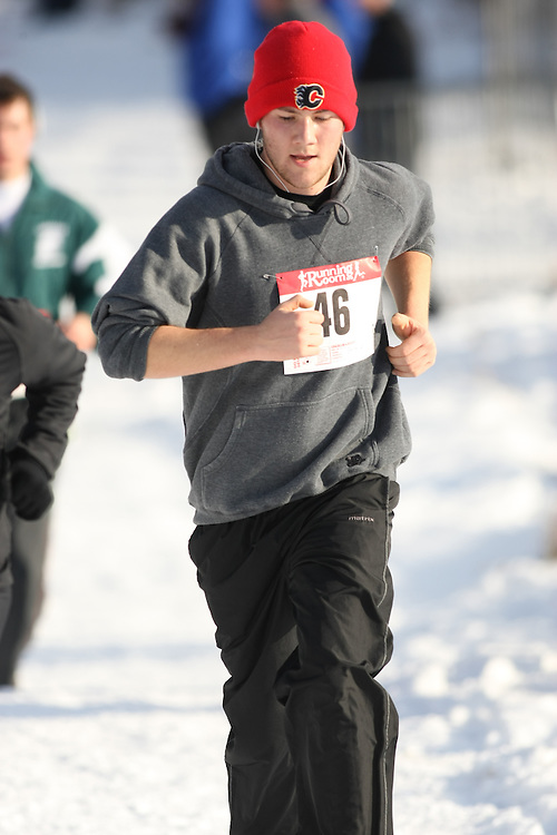 Guelph, Ontario ---29/11/08--- Runners compete in the fun run at the 2008 AGSI Canadian Cross Country Championships in Guelph, Ontario, November 29, 2008..Sean Burges Mundo Sport Images
