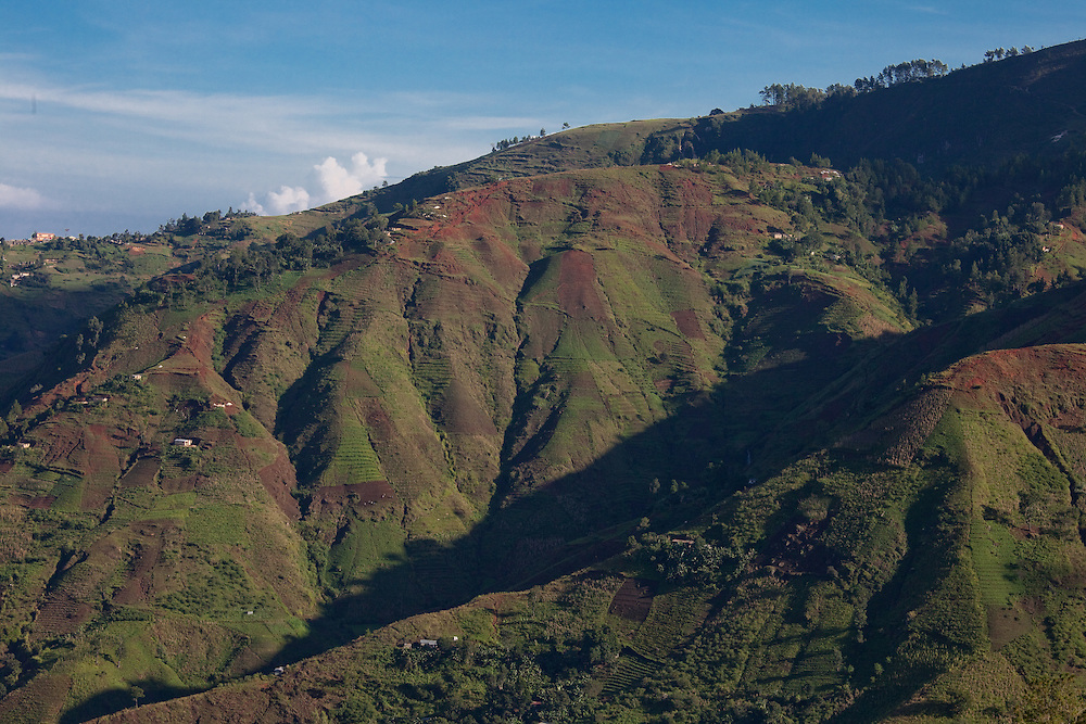 Denuded hillsides on the Massif de la Selle, Haiti. Such landscapes are sadly typical in Haiti.