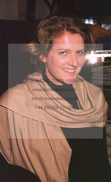 MISS CHARLOTTE RAWLINSON sister of Julia Ogilvy, at a party in London on 14th October 1998.MKU 53