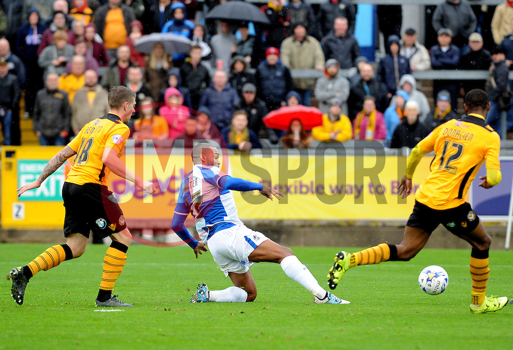 Jermaine Easter of Bristol Rovers tries to thread the ball through the Newport defence - Mandatory byline: Neil Brookman/JMP - 07966 386802 - 24/10/2015 - FOOTBALL - Memorial Stadium - Bristol, England - Bristol Rovers v Newport County AFC - Sky Bet League Two