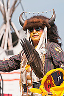 Adult male dancer, elder, Pow-wow, Blackfoot Crossing Historical Park, Alberta, Canada