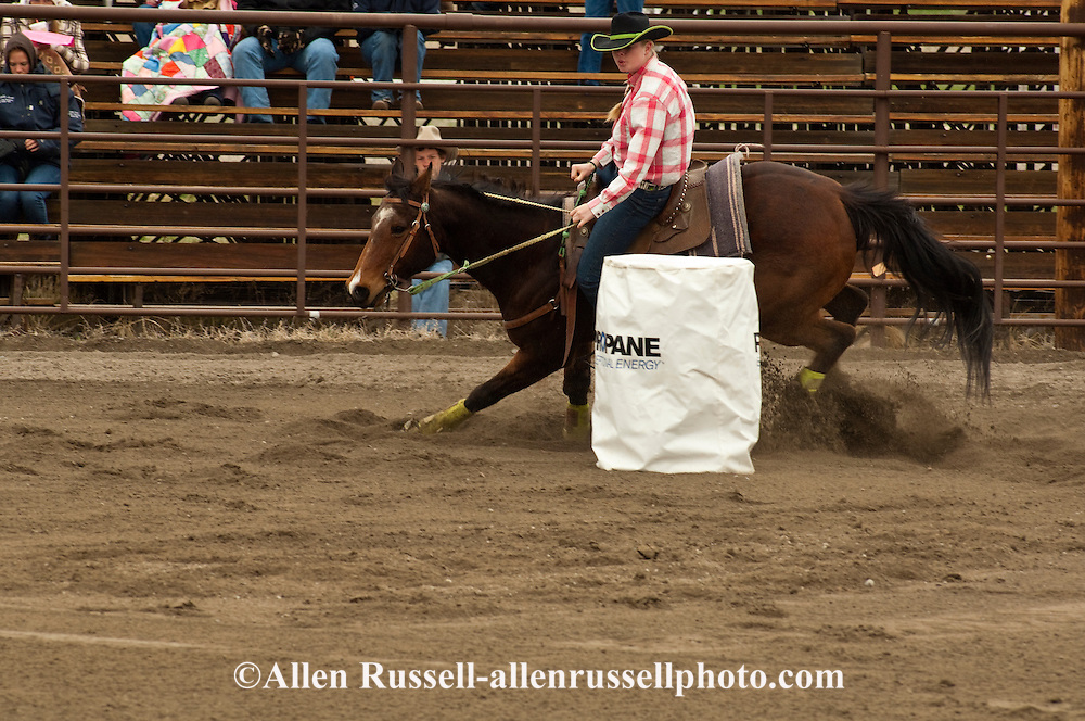 Barrel Racing, high school rodeo, Bozeman, Montana