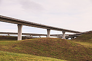 A convoluted highway interchange in Florida. WATERMARKS WILL NOT APPEAR ON PRINTS OR LICENSED IMAGES.