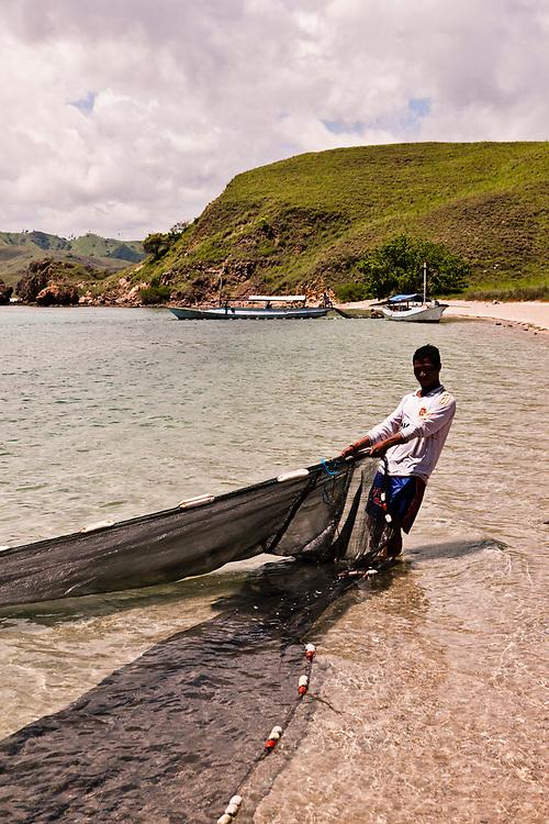 Fishermen at Gililawa Darat island.
