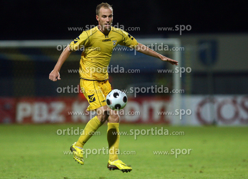 Rok Hanzic  (5) of Domzale at 1st football game of 2nd Qualifying Round for UEFA Champions league between NK Domzale vs HNK Dinamo Zagreb, on July 30, 2008, in Domzale, Slovenia. Dinamo won 3:0. (Photo by Vid Ponikvar / Sportal Images)