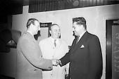 1966 - Judge for Castletown Horse Trials, Jock Ferri arrives at Dublin Airport