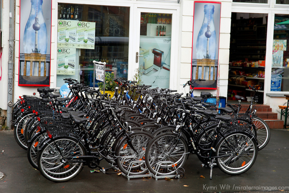Europe, Germany, Berlin. Bicycles of Berlin.