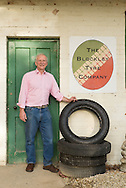 """Julian Majzub, founder / owner of """"Blockley tyre"""" at home in Gloucestershire."""
