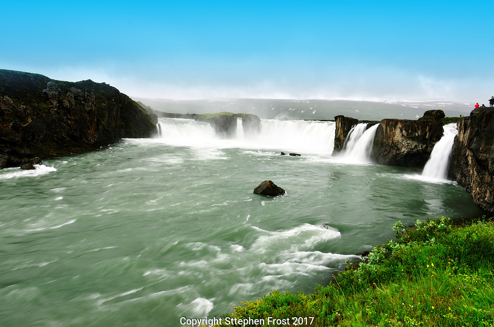 The Goðafoss (Icelandic: waterfall of the gods) is one of the most spectacular waterfalls in Iceland.