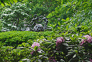 Fantasy Fountain by Greg Wyatt (1983) sculpture, Gramercy Park is a small  private park in Manhattan, New York City, New York, USA