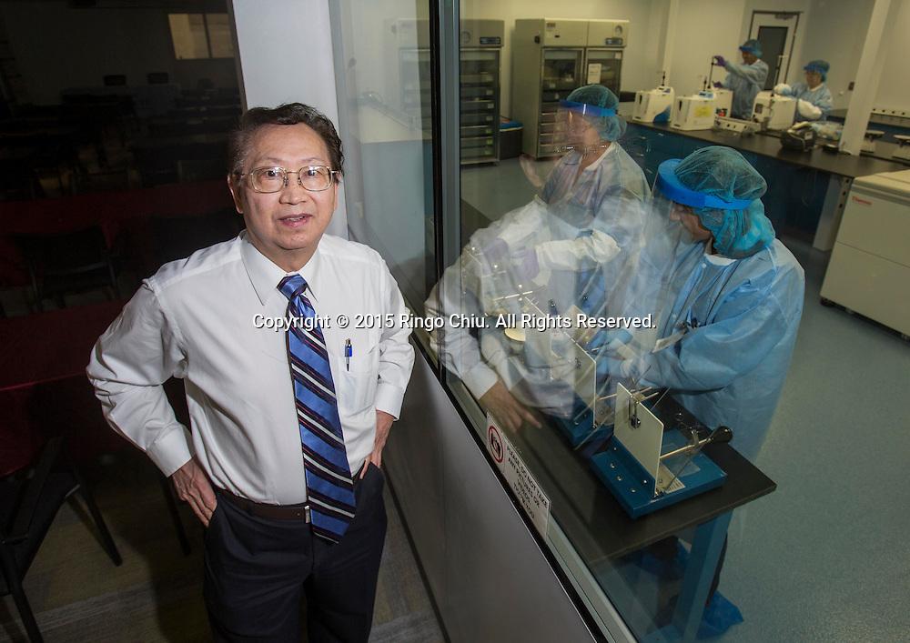Jonas Wang, CEO of StemCyte, a cord blood therapeutics company.<br /> Photo by Ringo Chiu/PHOTOFORMULA.com)