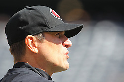 Sept 30, 2012; East Rutherford, NJ, USA; San Francisco 49ers head coach Jim Harbaugh before the game between the New York Jets and the San Francisco 49ers at MetLIfe Stadium.