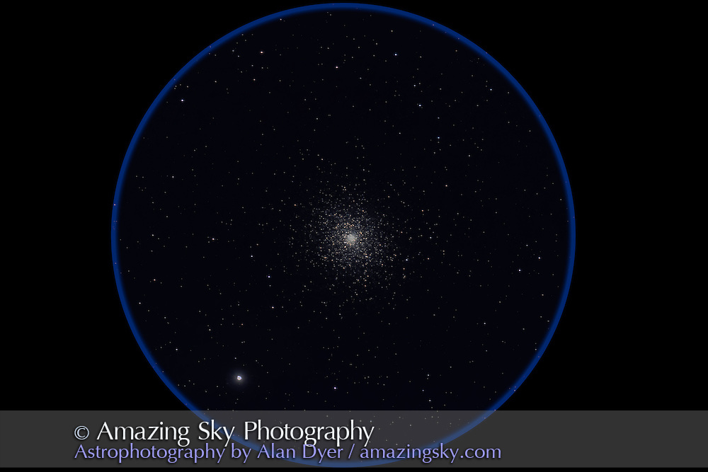 M5 globular cluster in Serpens. Taken from home June 15/16, 2012 with the 130mm Astro-Physics apo refractor at f/6 and the 6x7 field flattener, for a stack of 4 x 6 minute exposures at ISO 800 with the Canon 60Da camera. Object was getting low at the end of the sequence.