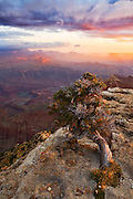 Sunrise over the Grand Canyon as viewed from Lipan Point. Grand Canyon National Park, Arizona.
