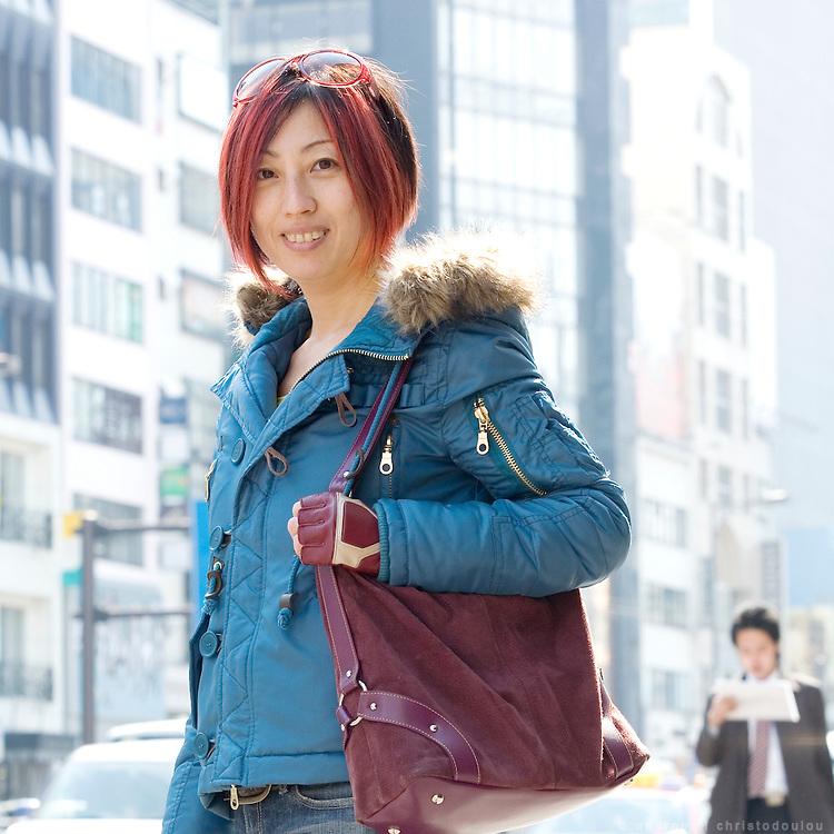 Interior designer Haruko Masuda in Aoyama area of Tokyo.