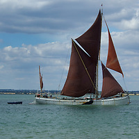 Thames Sailing Barge on the River Blackwater