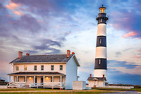Dusk at Bodie Island Lighthouse  Cape Hatteras National Seashore on the Outer Banks. NC.