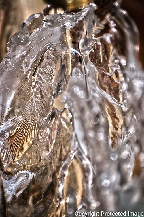 Ice formed in a natural sculpture during a deep freeze in Georgia.