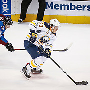 SHOT 2/25/17 8:44:11 PM - The Buffalo Sabres' Jake McCabe #29 races up ice as the Colorado Avalanche's Matt Duchene #9 gives chase during their NHL regular season game at the Pepsi Center in Denver, Co. The Avalanche won the game 5-3. (Photo by Marc Piscotty / © 2017)