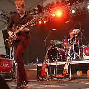 Spoon performs during the third day of the 2007 Bonnaroo Music & Arts Festival on June 16, 2007 in Manchester, Tennessee. The four-day music festival features a variety of musical acts, arts and comedians..Photo by Bryan Rinnert