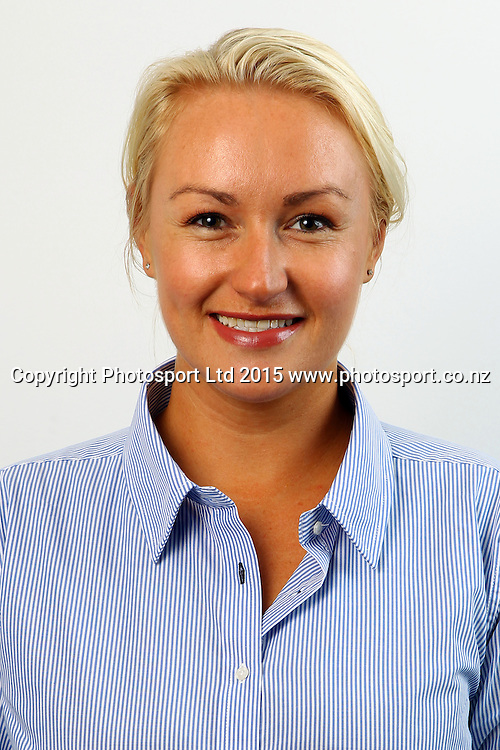 Jenna McCarthny, Auckland Rugby Union Staff Headshots. Auckland Rugby, Eden Park, Auckland. 5 June 2015. Copyright Photo: William Booth / www.photosport.co.nz