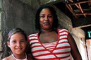 Woman and girl in Yumuri, Guantanamo, Cuba.